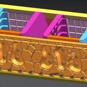 生态阶梯护岸模具