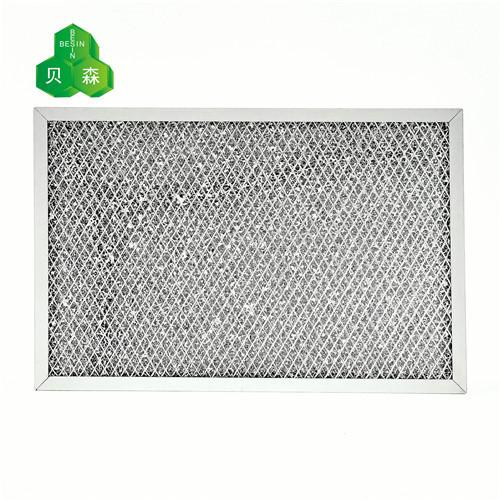 苏州贝森光触媒海绵网与菱形铝网复合基材催化有害气体过滤网