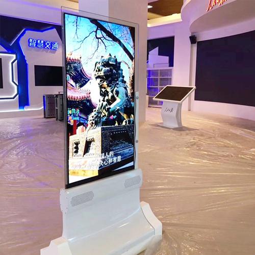 55寸OLED双面显示屏异同显示播放内容