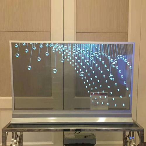 55寸OLED透明屏光源轻薄自发光显示画面直销