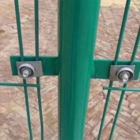 厂家供应框架护栏网现货双边丝护栏围栏网高速公路防护网