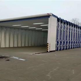 移动式伸缩喷漆房 工业车间喷漆轨道式移动伸缩房