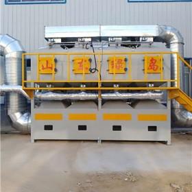 绿岛环保 催化燃烧设备  活性炭喷漆房废气处理设备 动力足