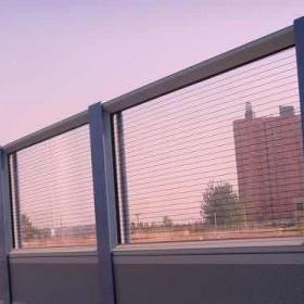高速公路金属隔音屏声屏障百叶板铁路城市高架桥梁吸音降噪墙厂家