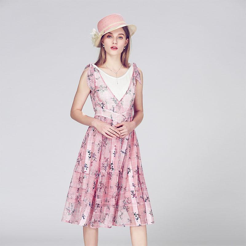 原创设计 夏季轻奢中高端知性修身连衣裙 现货供应