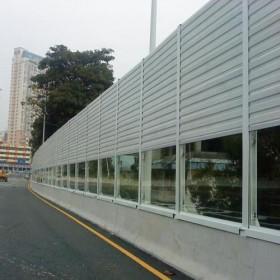 公路声屏障隔音板高速公路隔音墙立交桥梁城市高架桥隔定制吸音板