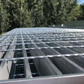热镀锌钢格栅盖板平台水沟盖板定制防滑楼梯踏步板重型插接钢格板