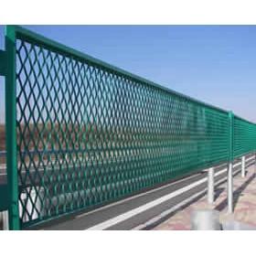 河北厂家供应桥梁防眩防抛网 菱形钢板网护栏 高速公路防眩网