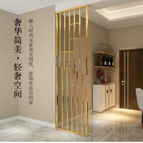 四川成都简易不锈钢香槟金屏风 不锈钢制品加工 高品质