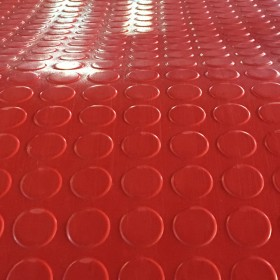 长城橡胶直销 高品质 防水防滑橡胶板-----圆扣橡胶板