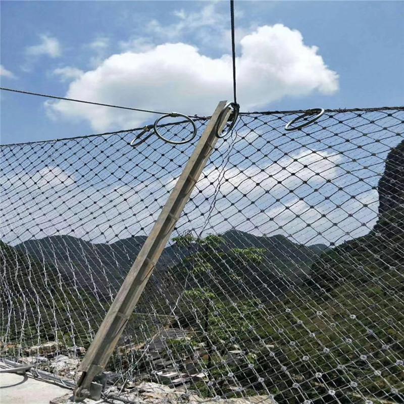山坡柔性被动防护网A夏邑山坡柔性被动防护网设计安装
