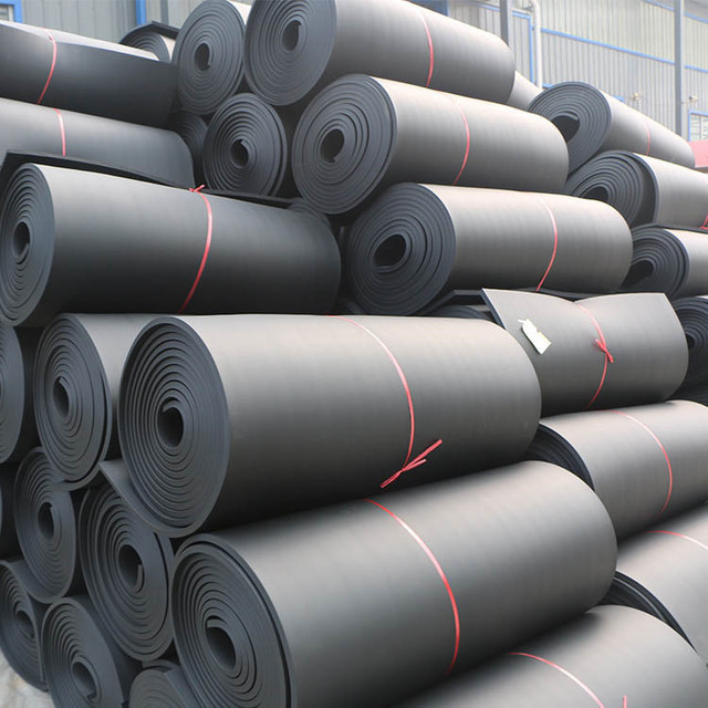 隔音隔热阻燃橡塑海棉板防火复合铝箔橡塑板b1级橡塑保温板