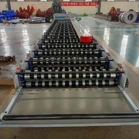 泊头兴和厂家720楼承板压瓦机 定做脚踏板成型机器