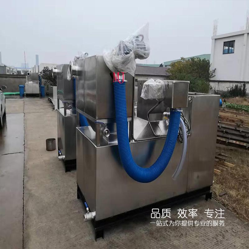 四川遂宁污水提升设备流程 废油过滤隔油一体化设备