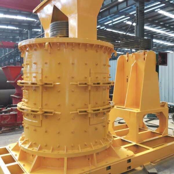 河南普创 多功能炉渣石灰岩重锤立轴制砂机
