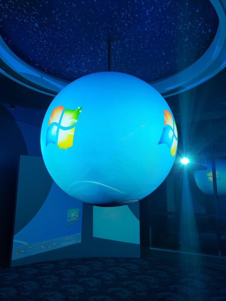 广西防城港高新区展厅——1.8m多媒体外投球幕系统