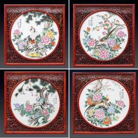 景德镇陶瓷器瓷板画 家居客厅卧室装饰画大壁画 背景墙挂画