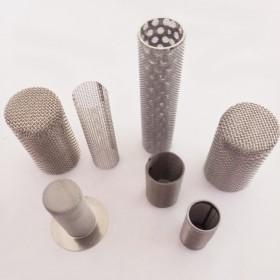 定制不锈钢过滤网筒 双层焊接过滤网 冲孔管骨架滤筒