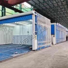 大型伸缩式喷漆房 工程机械喷漆设备 山东创捷