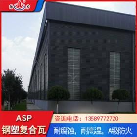 内蒙古包头钢塑覆合板 asp防腐瓦 新型环保建材塑料彩钢板