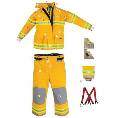 雷克兰美标消防战斗服符合NFPA认证救援防护