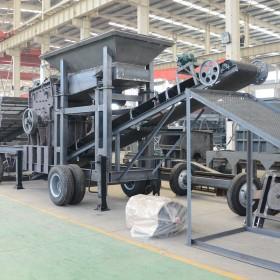 产地货源 车载轮胎式移动破碎机 流动制砂机