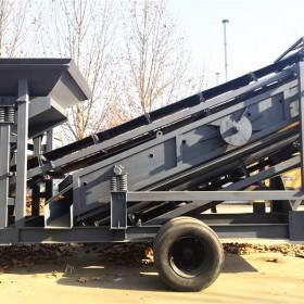 重型数控大理石矿石移动破碎机 多功能轮胎式移动制砂机