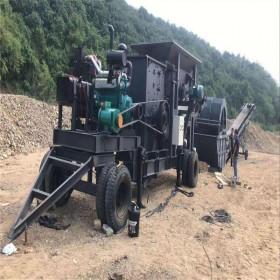 矿山石料轮胎式移动破碎机 车载式移动制砂机设备