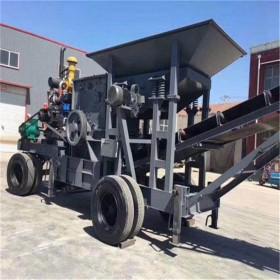 公路用料坚硬矿石移动破碎机 车载式移动制砂机设备