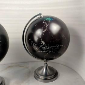 出口直径50cm黑色版块金属弯弓地球仪