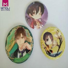日本动漫星幻膜马口铁徽章长方形印刷铁胸章特殊纸徽章
