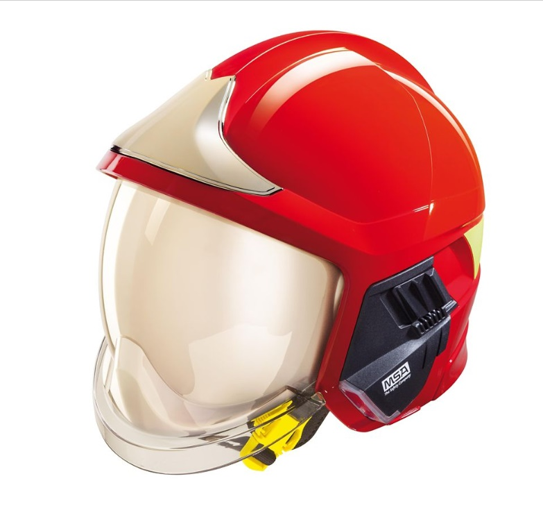 MSA梅思安F1XF红色标准款消防救援头盔