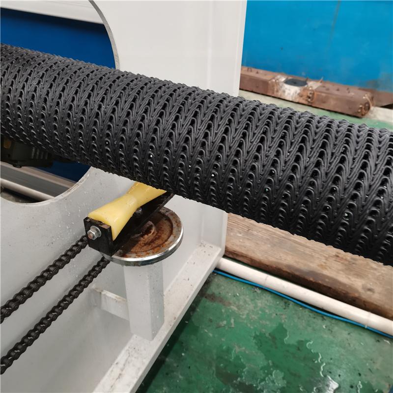 山东硬式透水管曲纹网状PE硬式透水管
