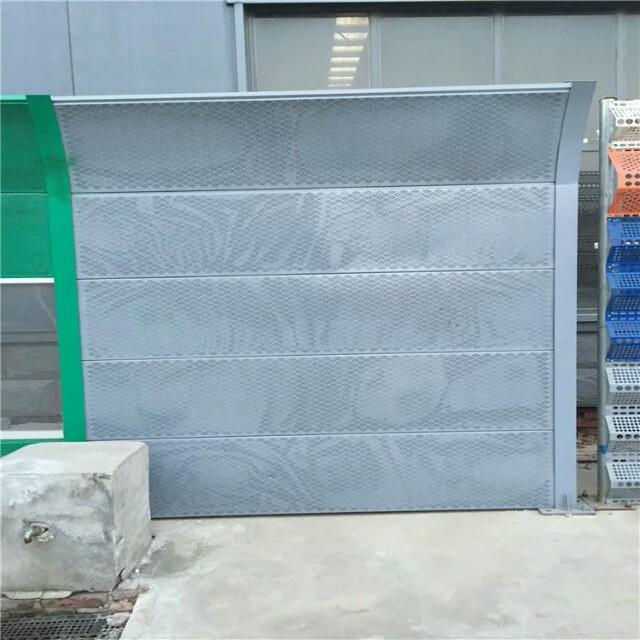 生产声屏障 吸音棉玻璃纤维声屏障 圆孔百叶吸声隔声板