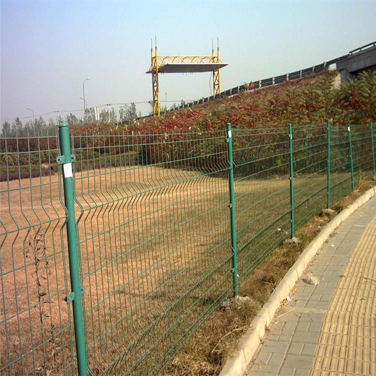 无边框网片 双边丝护栏网 隔离栅 浸塑铁丝防护网