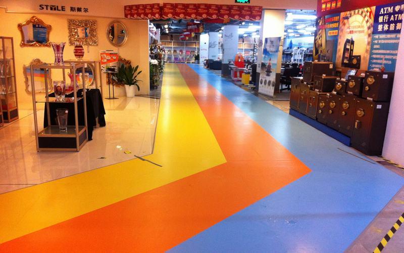 PVC塑胶地板施工 塑胶跑道厂家 悬浮地板公司