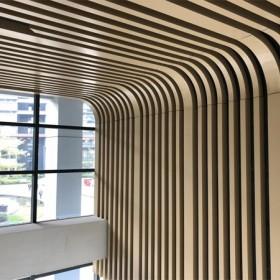 北京商超走廊铝合金方通吊顶
